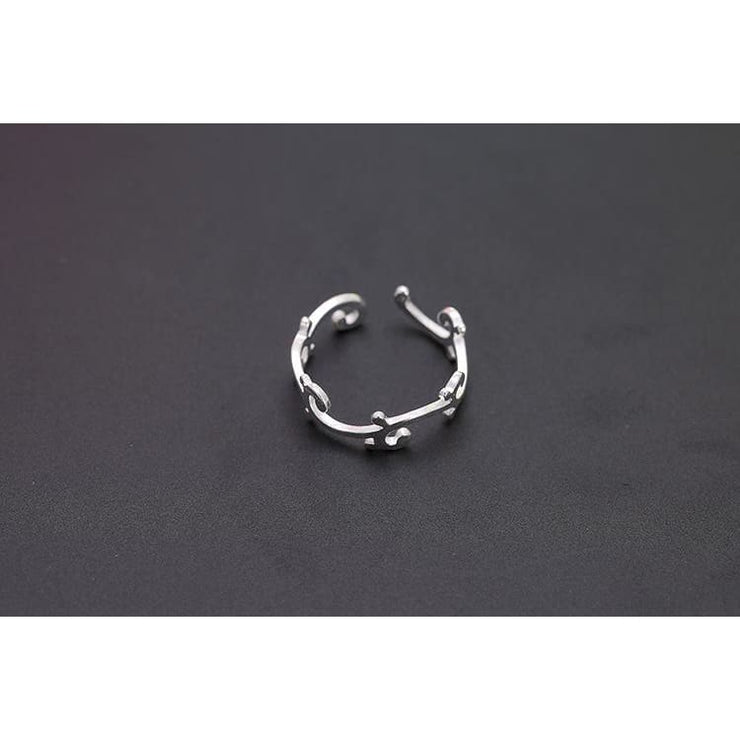925 Silver Vine Adjustable Fairytale Ring