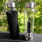 Crystal Gemstone Water Bottle + Protective Cover