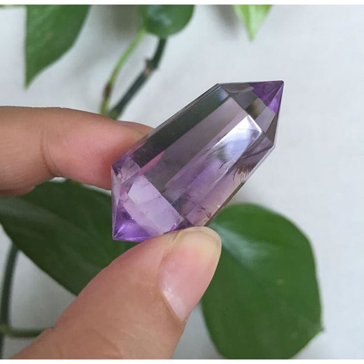Amethyst Double Point Vogel Crystal Wand