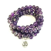 Amethyst Mala Bead Bracelet Or Necklace - Ohm Charm