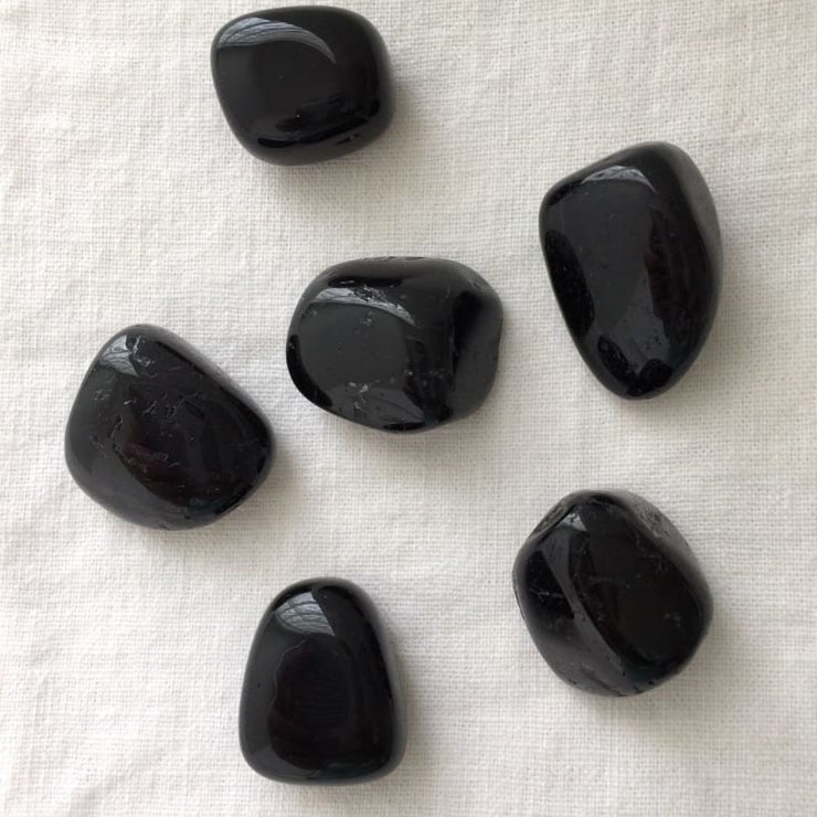 Black Tourmaline Tumbled Stones (100 Grams) (5-15 Stones)