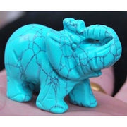 Carved Turquoise Elephant