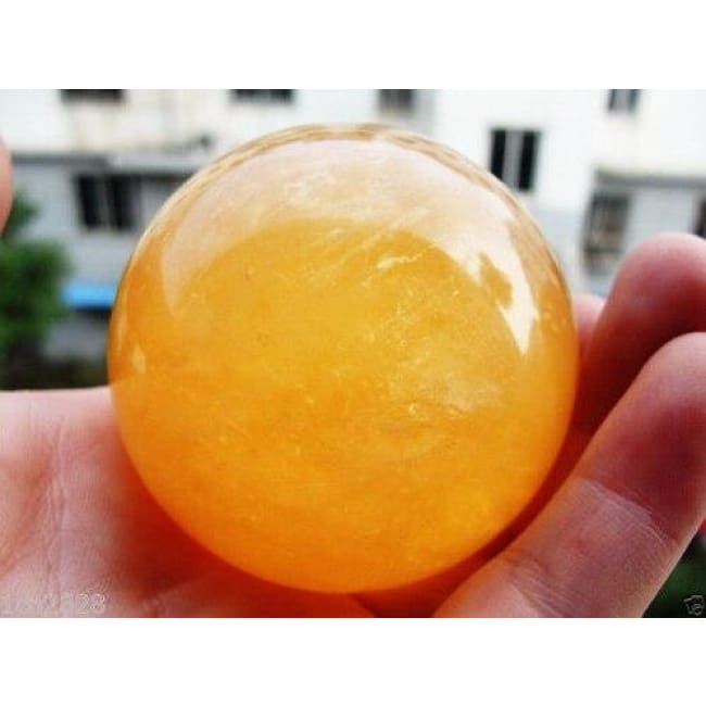 Citrine Calcite Healing Crystal Sphere