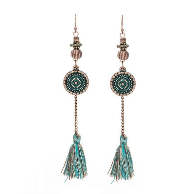 (Clearance) Antique Vintage Bohemian Ethnic Tassel Earrings - E020230