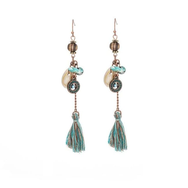 (Clearance) Antique Vintage Bohemian Ethnic Tassel Earrings - E020231