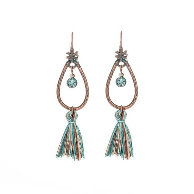 (Clearance) Antique Vintage Bohemian Ethnic Tassel Earrings - E020233