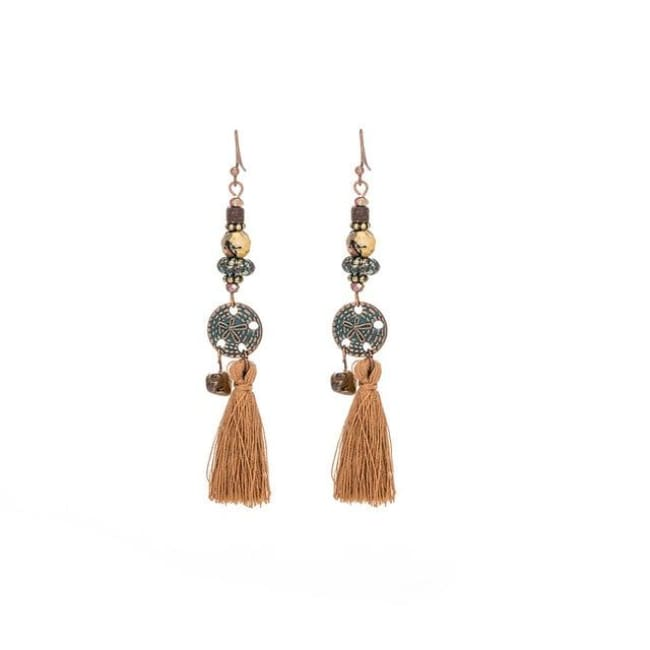 (Clearance) Antique Vintage Bohemian Ethnic Tassel Earrings - E020234