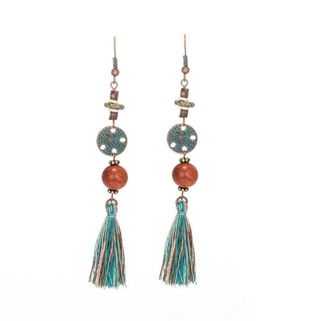 (Clearance) Antique Vintage Bohemian Ethnic Tassel Earrings - E020235