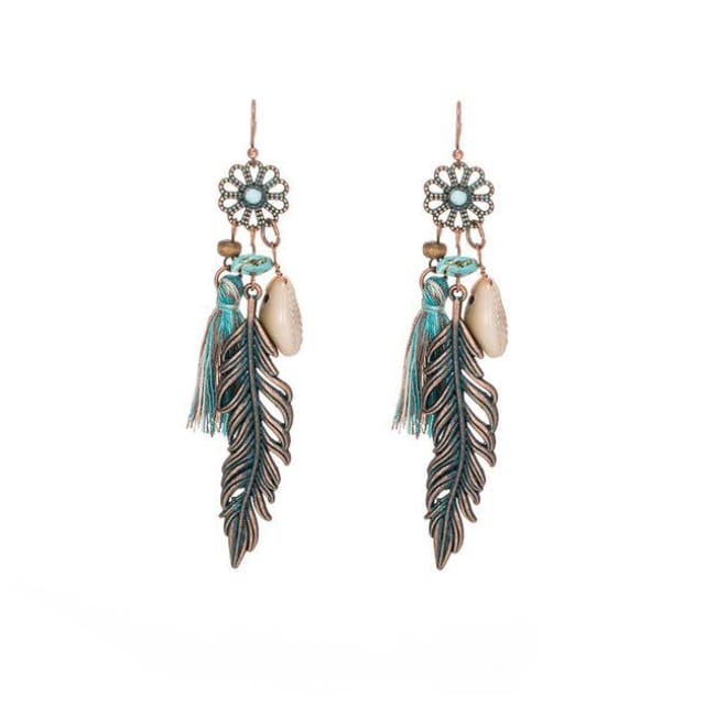 (Clearance) Antique Vintage Bohemian Ethnic Tassel Earrings - E020236