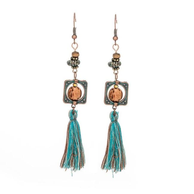 (Clearance) Antique Vintage Bohemian Ethnic Tassel Earrings - E020240