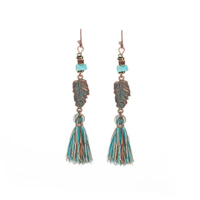 (Clearance) Antique Vintage Bohemian Ethnic Tassel Earrings - E020241