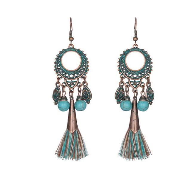 (Clearance) Antique Vintage Bohemian Ethnic Tassel Earrings - E020310