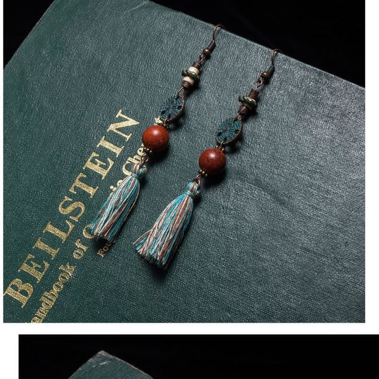 (Clearance) Antique Vintage Bohemian Ethnic Tassel Earrings