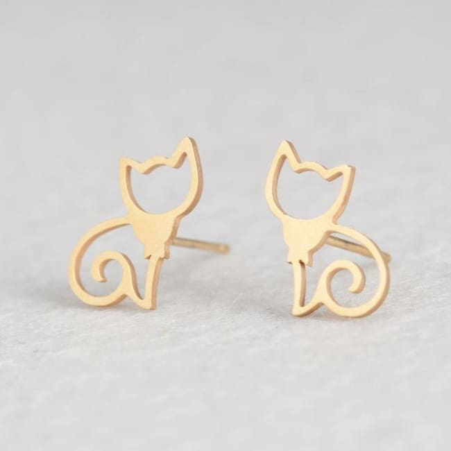 (Clearance) Cute Stud Earrings (16 Styles) - Cat