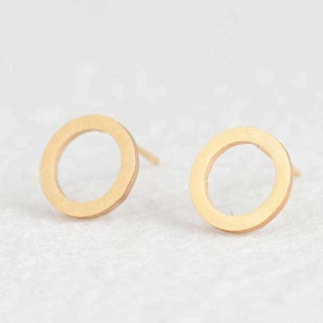 (Clearance) Cute Stud Earrings (16 Styles) - Circle