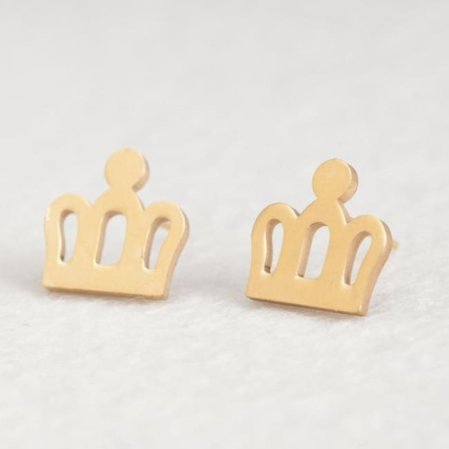 (Clearance) Cute Stud Earrings (16 Styles) - Crown
