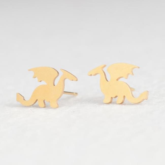 (Clearance) Cute Stud Earrings (16 Styles) - Dragon