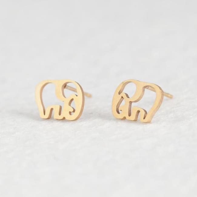(Clearance) Cute Stud Earrings (16 Styles) - Elephant