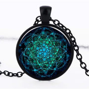 (Clearance) Flower Of Life Pendant - Black 25Mm