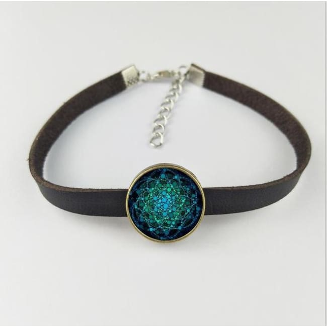 (Clearance) Flower Of Life Pendant - Bracelet 16Mm