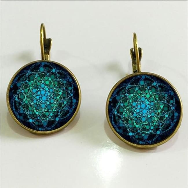 (Clearance) Flower Of Life Pendant - Bronze 18Mm