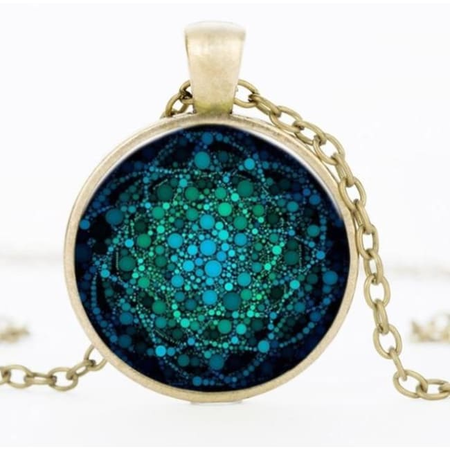 (Clearance) Flower Of Life Pendant - Bronze 25Mm 1