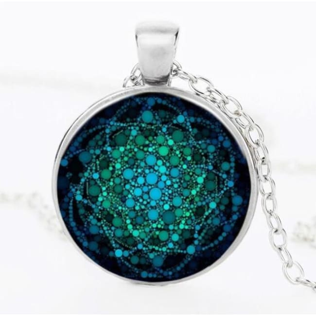 (Clearance) Flower Of Life Pendant - Silver 25Mm 2