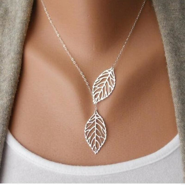 (Clearance) Golden/silver Leaf Chain Necklace