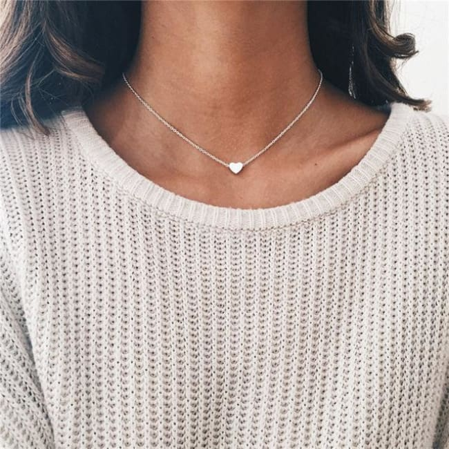 (Clearance) Heart Moon Star Chokers (15 Styles) - O-Xl06Sliver
