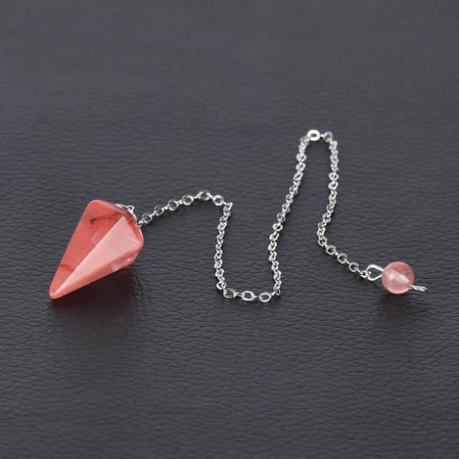 (Clearance) Pendulum Pendant - Watermelon Crystal