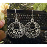 (Clearance) Tibetan Silver Vintage Round Earrings