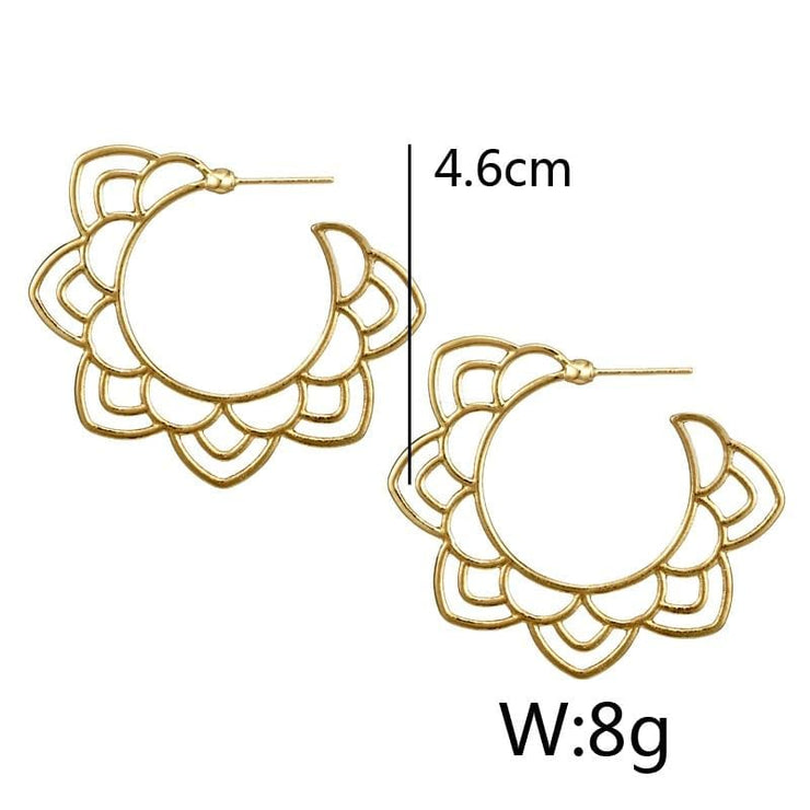 (Clearance) Tribal Gold/silver Floral Drop Earring