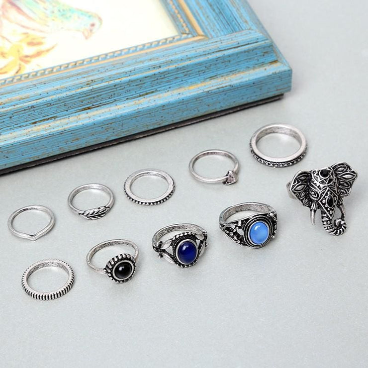 (Clearance) Vintage Antique Silver (Set Of 10) Rings