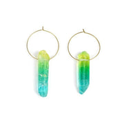 Angel Aura Quartz Hoop Earrings