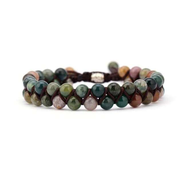 Earth Spirit Braided Woven Natural Stone Bracelet - India