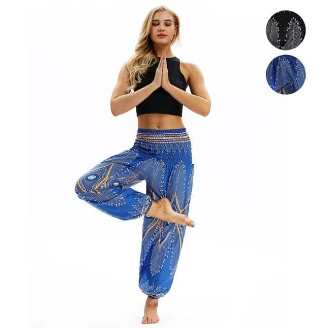Harem Pants One-Size Fits All So Comfortable! - Royal Blue / One Size