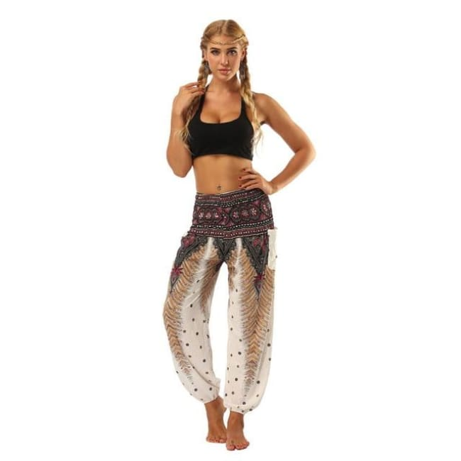 Harem Pants One-Size Fits All So Comfortable! - White / One Size