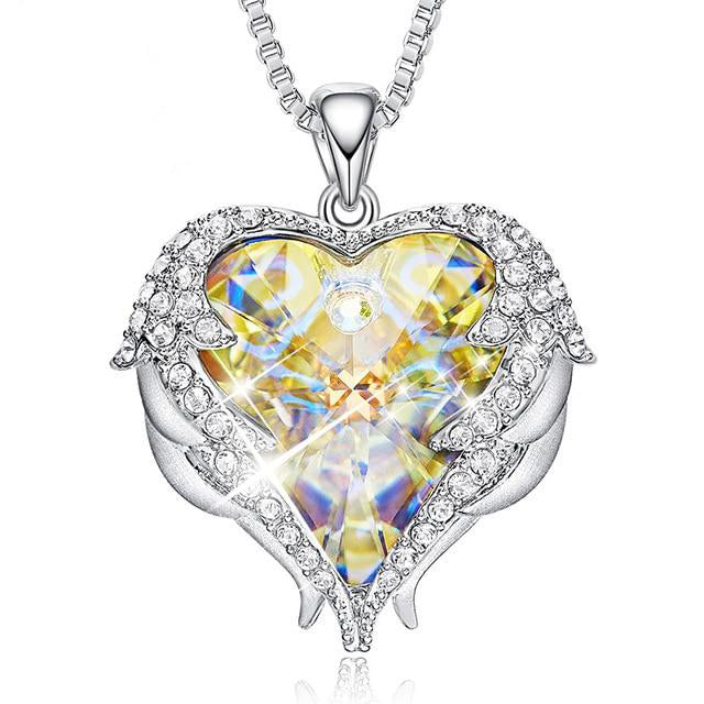 Angel Wings Heart Pendant - $39 PROMO FREE SHIPPING TODAY ONLY