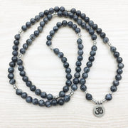 Labradorite Mala Bead Bracelet Or Necklace