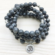 Labradorite Mala Bead Bracelet Or Necklace - Ohm Charm
