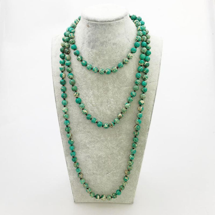 Natural Green Turquoise Stone Necklace