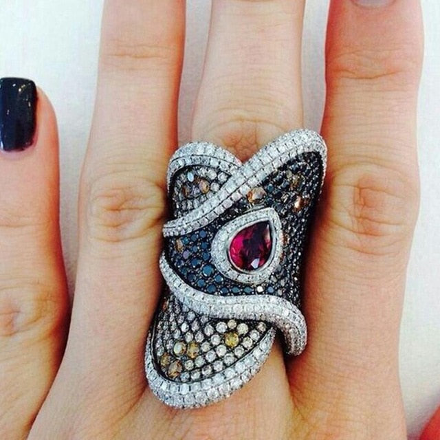 Luxury Black CZ Stone Ring - $9 PROMO FREE SHIPPING TODAY ONLY