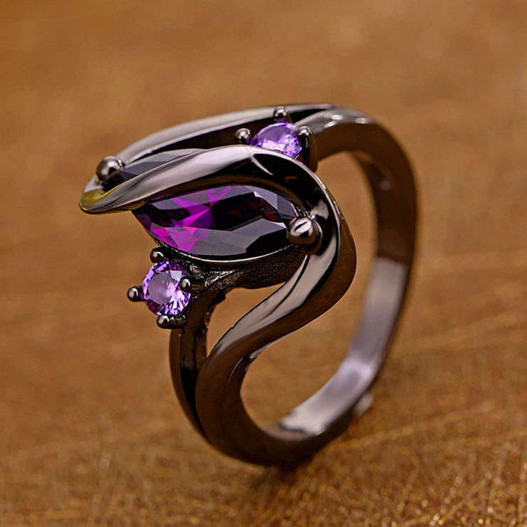 Amethyst Zircon Ring - $7 PROMO FREE SHIPPING TODAY ONLY