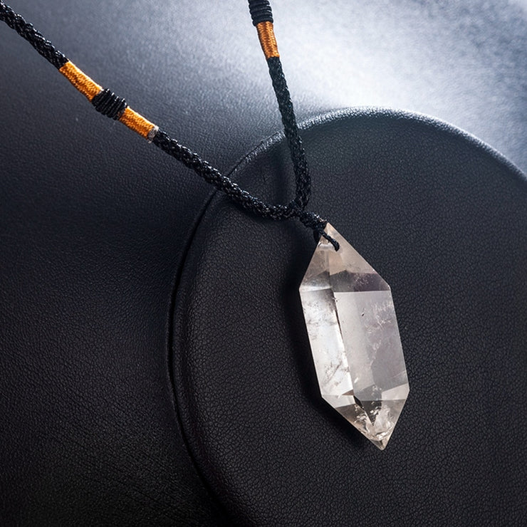 Double Pointed Crystal Quartz Pendant - $9 PROMO FREE SHIPPING TODAY ONLY