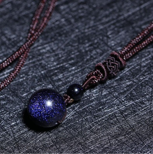 Obsidian Rainbow Eye Bead Pendant Necklace - $7 PROMO FREE SHIPPING TODAY ONLY