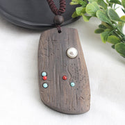 Vintage Sandalwood Natural Stone Necklace - $9 PROMO FREE SHIPPING TODAY ONLY