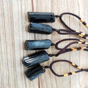 Black Tourmaline Stone Necklace