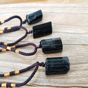 Black Tourmaline Stone Necklace - $19 PROMO FREE SHIPPING TODAY ONLY