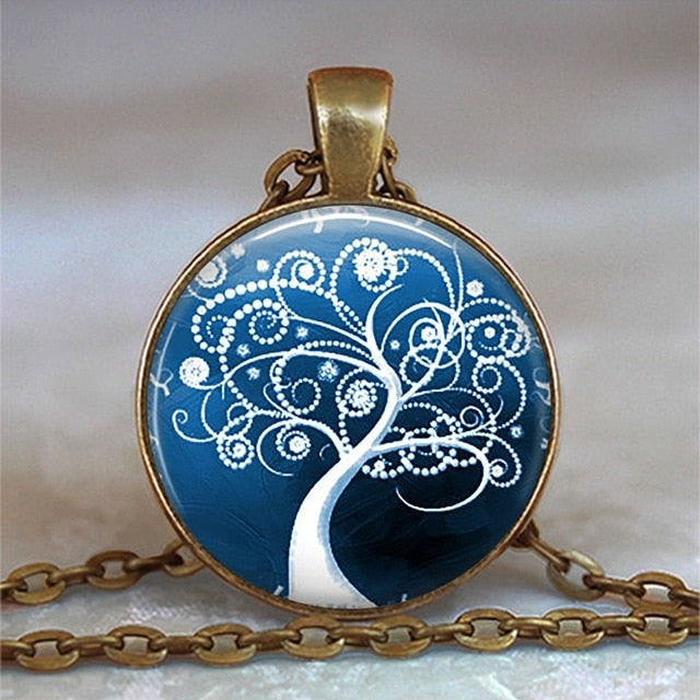 Tree Of Life Cabochon Statement Necklace - $7 PROMO FREE SHIPPING TODAY ONLY