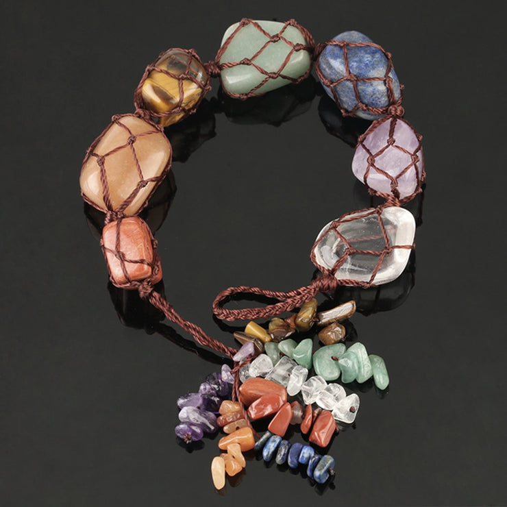 7 Chakra Stone Hanging Ornament - $14 PROMO FREE SHIPPING TODAY ONLY